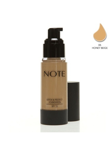 Note Detox Protect Fondöten Spf15 Honey Beige 05 35Ml Note